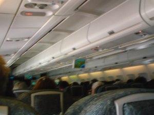 A bord de l'avion